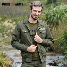 Free Army Brand Men's Jacket New Design Fashion Casual Style Man's Jackets Army Green Pocket And Button Jacket For Male MS-6581A