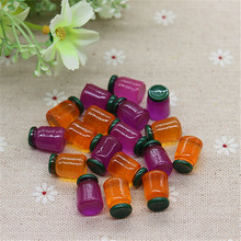 10pcs 3D Resin Miniature Jam Bottles Embellishment Accessories DIY Scrapbooking Crafts,10*15mm