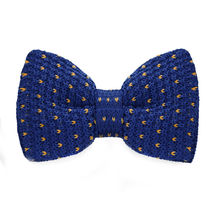 LF-338 Fashion New Arrival Knitted Crochet Men`s Bowties Adjustable Blue & Yellow Novelty For Men Party Bussiness Free Shopping