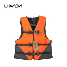Lixada Professional Polyester Adult Life Jacket Universal Swimming Boating Drifting Vest With Whistle Prevention L-XXL 2 Colors(China)