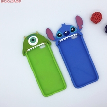 "NEW 3D Cartoon Stitch Mike Case Soft Silicone Cover For Apple iPhone SE 5 5S 5C & 6 6S 4.7"" & 6 6S Plus 5.5"" Rubber Shell"
