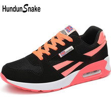 Hundunsnake Air Coussin Femme Sport Sneakers Femme Chaussures de Sport Noir Maille Chaussures de Course de Femmes 2018 Sport Chaussures Femme Marcher t20(China)