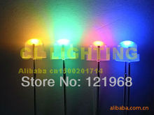 Automatic slow flashing 4.8MM strawhat DIP LED rgb color diode 3.0-3.5V 100PCS free shipping