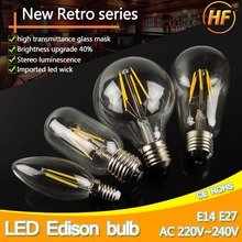 LED Edison Bulb E27 LED Lamp E14 220V Antique Retro Vintage Filament Light Glass Bulb 4w 6w 8w 12w Candle Lamparas Bombillas(China)