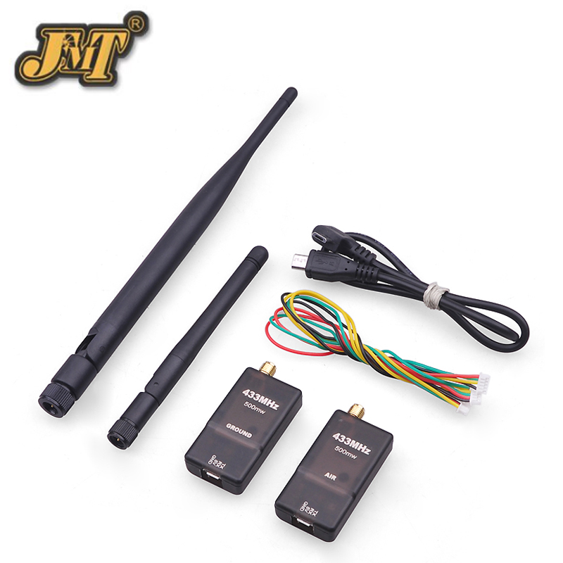 JMT 3DR Radio Telemetry Kit Data transmission Module 500MW with OTG 433MHZ/915MHZ Support MWC/APM/PX4/Pixhawk Flight Controller<br>