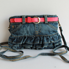 etn bag 120915 best seller girl small denim Skirt bag kids mini crossbody bag