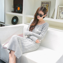 5colors 2016 Winter Casual Women's Long Sleeve White Red  Sweater Dresses , Elegant Thick Warm Pullover Mid-calf Dress For Woman