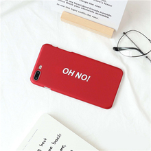 For iphone 7 Ultra thin Back Case Funny Writing Letter Cover Hard PC Funds Matte Phone Capa Matte Bumper Accessories(China)