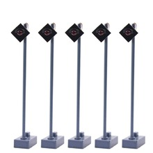 5pcs Model Railway Block Signals Red HO or OO Scale 7.5cm 6V New LYL051 light bulbs model building kit turn singal light