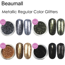2.5g/pot, 0.2mm (1/128 008) Metallic Regular Color Glitters Acrylic Dazzling Glitters Dusts For Nail,Tatto Art Decorations(China)
