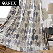 QANHU Japan and Korea Style Promotion Curtain Pattern  Landing Blackout Curtains Customize Bedroom Curtains Set A-24