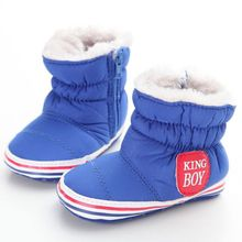 Super Warm Winter Baby Ankle Snow Boots Infant Shoes Pink Khaki Antiskid Keep Warm Baby Skiing Shoes
