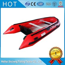 Best seats boat 1.2mm rubber inflatable boat with aluminium floor/cheap motor boats for sales(China)