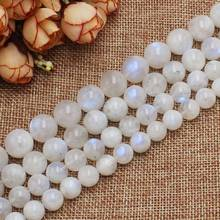 "Wholesale Natural Rainbow Moonstone 8-14mm Round Loose Beads 15"" For DIY Jewelry Making !wholesale for all items!"