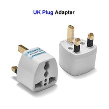 100pcs US EU AU To UK Plug Adapter American European Euro British 3 Pin Travel Power Adapter Converter Socket Electric Outlet(China)
