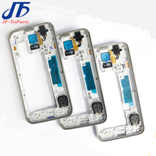 10pcs S5 Middle Frame For Samsung Galaxy S5 G900F G900T G900V G900A S5 mini G800 LCD Middle Housing Plate Frame Bezel Cover Case(China)
