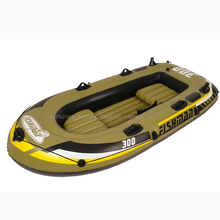 4 person child inflatable fishing boat PVC Rowing Boats carry weight include two seat+a pair of oars+hand pump
