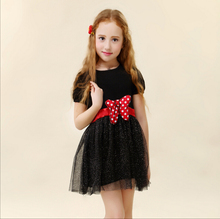 New 2016,baby girls' clothing  party dresses,Children clothes,summer minnie bow tutu princess girl dress kids dresses for girls