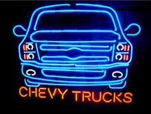 NEON SIGN For New American automobile Chevy Trucks Signboard REAL GLASS BEER BAR PUB  display Shop Custom Light Signs 20*24""