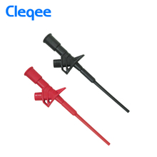 Cleqee P5004 2PCS Professional Insulated Quick Test Hook Clip High Voltage Flexible Testing Probe