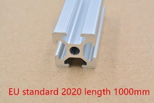 2020 aluminum extrusion profile european standard white length 1000mm industrial aluminum profile workbench 1pcs