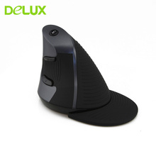 Delux Optical Vertical Wireless Mouse Ergonomic Gaming Mouse Gamer Wireless Mice 1600DPI Adjustable For PC Laptop Computer Mause(China)