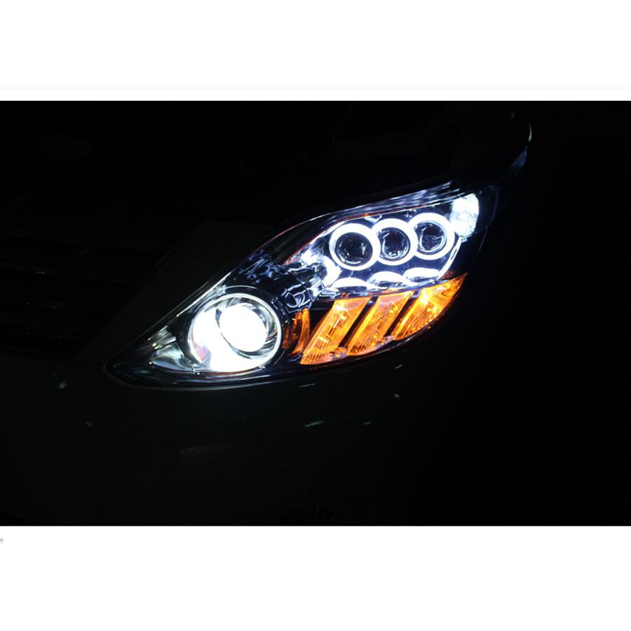 LED Angel Eyes COB 2PCS Auto Halo Ring 60MM 70MM 80MM 90MM 100MM 110MM 1MM Car Motorcycle With Lampshades 12V For BMW E60 E39 22