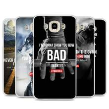 Loving Bodybuilding Gym Fitness Cell Phone Case Cover for Samsung Galaxy J1 J2 J3 J5 J7 C5 C7 C9 E5 E7 2016 2017 Prime