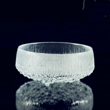 Small and exquisite Finland Iittala Ultima Thule style frozen glass bowl Made In China home decoration/dining use 2016 fashion(China)