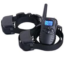 For 2 dogs remote control dog training collar bark stop collar electric shock device treatment ring stop dog barking collar
