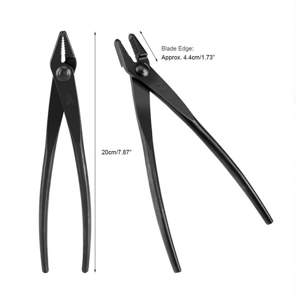 Bonsai Drahtzange Drahtschneider in Standard-Qualität schwarzer Stahl 205 mm