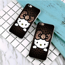 New Arrival Ultrathin Luxury printing Hard plastics Case for iphone 5 5s SE 5c 4s 6 6s 7 plus Hello Kitty pattern Phone Case(China)