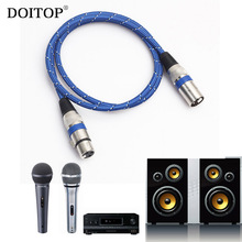 DOITOP XLR Microphone Audio Cable M/F 3pin XLR male to female microphone extension jack audio cable cord For Mic Mixer Amplifier