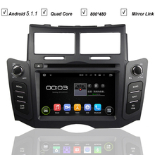 Car DVD Android 5.1 System for Toyota Yaris Sport 2005-2011 Radio RDS Bluetooth Mirror Link 3G WIFI QuadCore 1G RAM 16G RAM(Hong Kong)