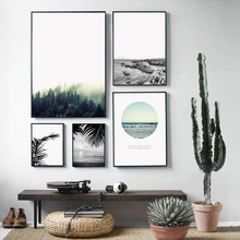 900d Nordic Landscape Canvas Art Print Painting Poster, Forest Wall Pictures For Home Decoration, Wall Decor BW005(China)