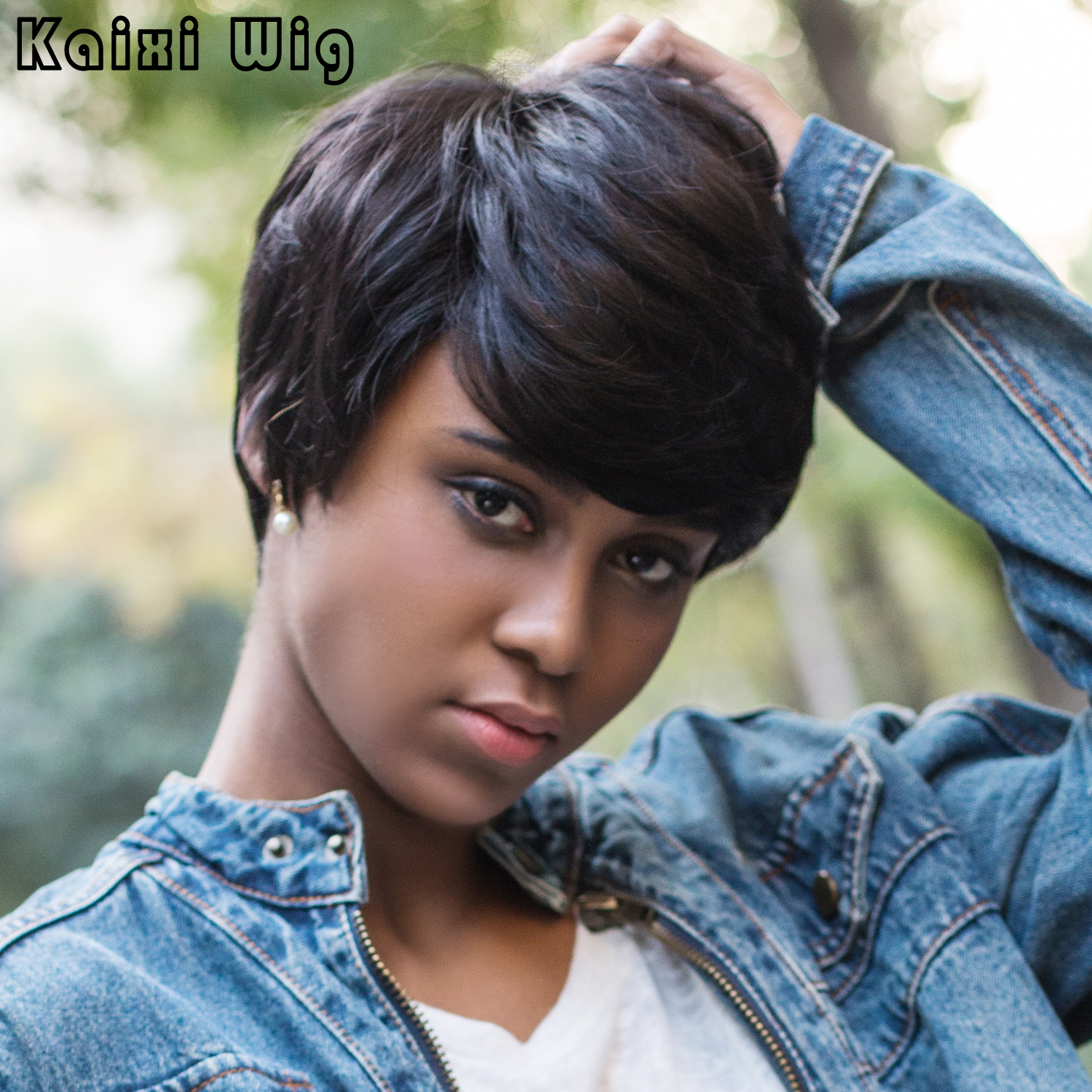 Synthetic Short Hair Wigs Short Black Wig Short Straight Pixie Cut Wig Synthetic Wigs for Black Women Heat Resistant<br><br>Aliexpress