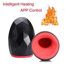 Buy APP Control Electric Oral Strong Suck Automatic Male Masturbator Aircraff Cup Smart Heating Warming Vibrator Passion Cup Men