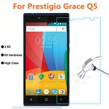 5pcs/lot Prestigio Grace Q5 Tempered Glass 9H Protective Film Explosion-proof Screen Protector For 5506 PSP5506 DUO Guard Cover(China)