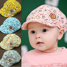3-24 Months Spring Summer Baby Hat Children Baseball Cap Kids Peaked Beret Hats Infant Girls Boys Cute Cricket-Caps(China)
