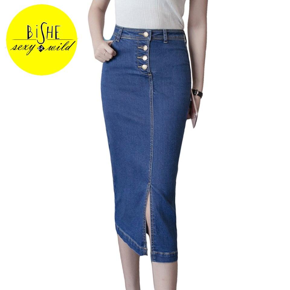 Denim Skirt with Front Split Promotion-Shop for Promotional Denim ...