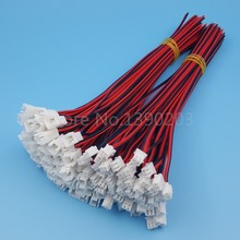 50Pairs XH2.54 2Pin Male and Female 20CM 22AWG Single End Electronic Wire Connector(China)