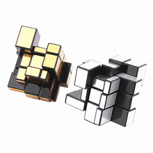 OCDAY New 3x3x3 Compact and portable Mirror Blocks Silver Shiny Magic Cube Puzzle Brain Teaser IQ Kid Funny Worldwide Great gift(China)