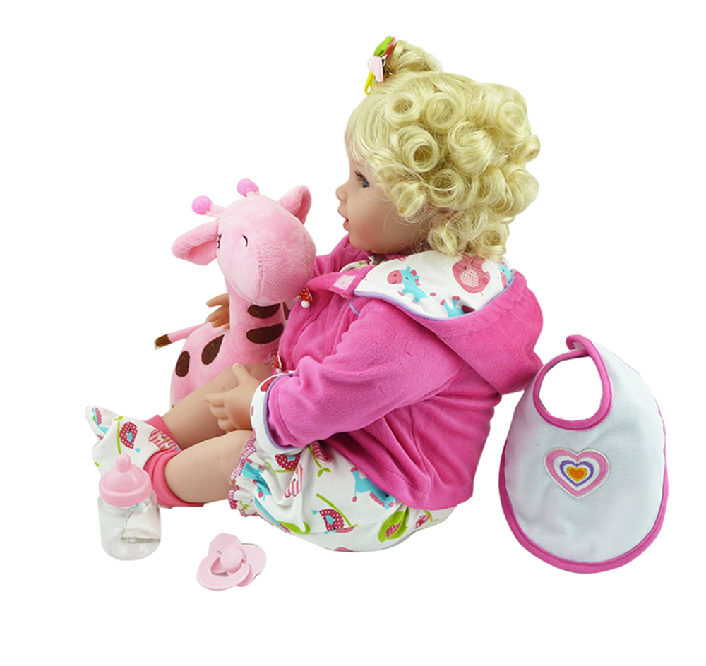 New Silicone Vinyl Adora Lifelike 20 Toddler Baby Bonecas Girl Kid Doll Bebe Reborn Menina De Silicone Toys For Children (2)