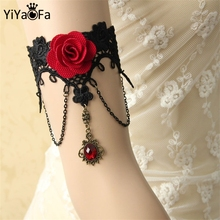 YiYaoFa DIY Gothic Jewelry Lace Arm Accessories Women Arm Bangles Handmade Summer Fashion Girl Party Jewelry AT-19