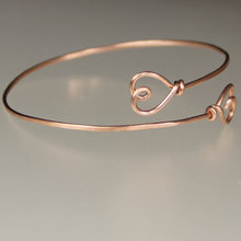 Rose gold plated double heart wiring adjustable bangle Sterling Silver bracelet fashion  Jewelry Bridesmaids gifts women