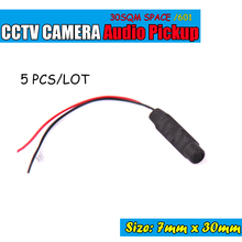 5pcs/lot Sound Monitor Audio Pickup Security Listening for CCTV Camera Audio Camera Microphone