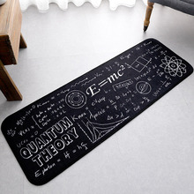 MDCT White Quantum Theory Formula Carpet Area Rugs Office Sofa Chair Parlor Decor Polyester Black Door Floor Mats Rugs Tapete