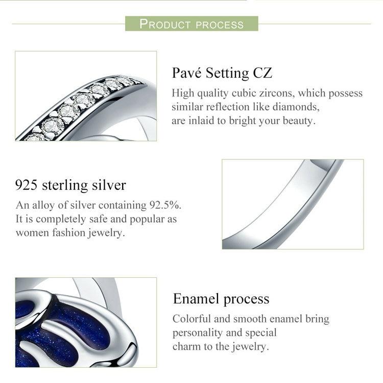 خاتم جناح الفراشة للسيدات فضة S925 4