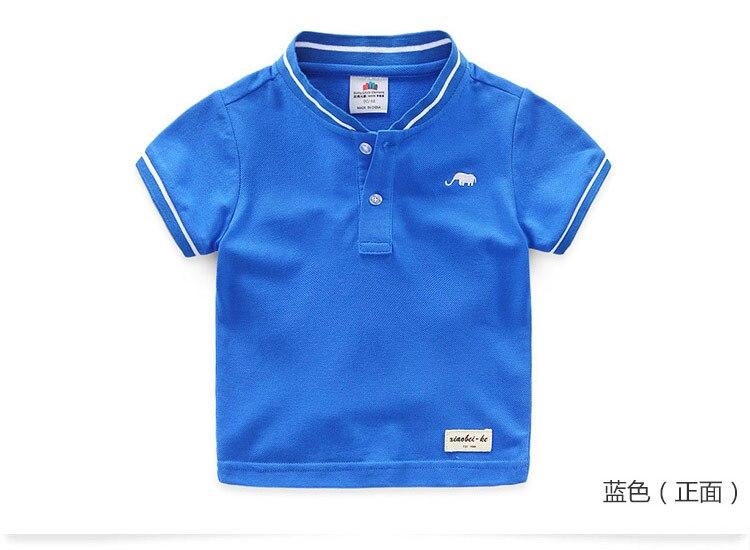 Boys Clothes 2018 Hot Summer Novelty Cotton Cartoon Elephant Print Short Sleeve Mandarin Collar T Shirt Kids Boys (5)