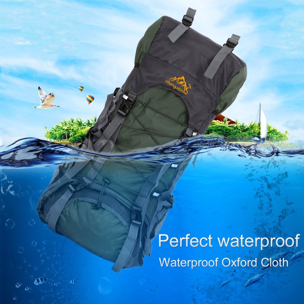 60L Large Waterproof Shoulder Bags Capacity Outdoor Sports Mountaineering Backpack Internal Frame Hiking Camping Trekking<br>